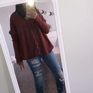 Orange-red sweater from urban outfitters